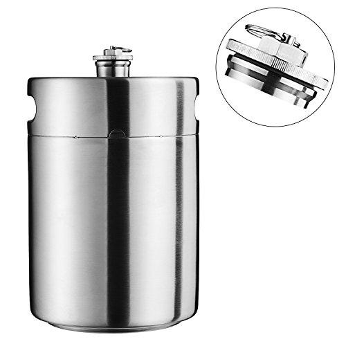 - Cool Bank Stainless Steel Mini Beer Keg Growler 5L