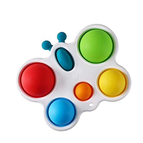 Simple Dimple Fidget Toy for Baby, Fidget Simple Dimple Toy Stress Relief Hand Toys Push Pop Sensory Fidget Toys for Kids - Flipping Board Fidget Toys for Sensory Kids