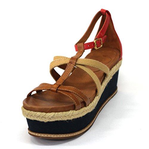 Juicy Couture abierto-para dedo del pie de cuña con interior y pedrería para mujer, estándar del Reino Unido 3,5, de £129 - T. Moro-dark-natural