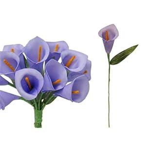 BalsaCircle 60 Single Stem Mini Calla Lilies - Artificial Flowers Wedding Party Centerpieces Arrangements Bouquets Supplies 23