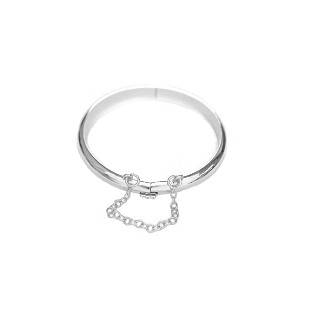 Children's Sterling Silver Shiny Baby Bangle Bracelet 5.5 Inches Ritastephens 1