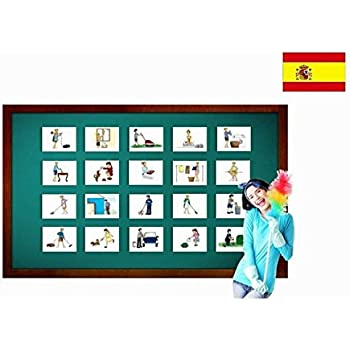 Tarjetas de vocabulario - Tareas - Chores and Household Flashcards in Spanish - Vocabulary Picture Cards for Language Learning