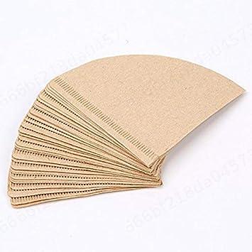 1 bo/îte V60 Goutte /à Goutte Machine /écrus Papier en Bois Filtres /à caf/é 1-2 Conique Serving
