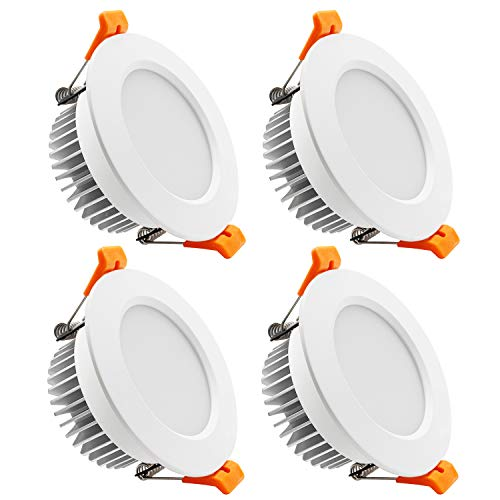 YGS-Tech 3.5 Inch LED Recessed Lighting Dimmable Downlight, 7W(55W Halogen Equivalent), 5000K Daylight White, CRI80, LED Ceiling Light with LED Driver (4 Pack)