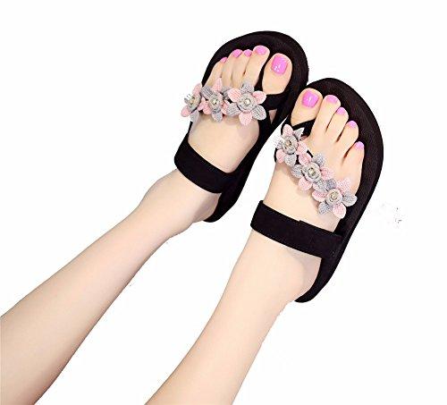 pink Épais Clip Pente Glisser Femmes À Fond Humaine Chaussures Avec Chaussons Quotidienne YUCH 7R4qww