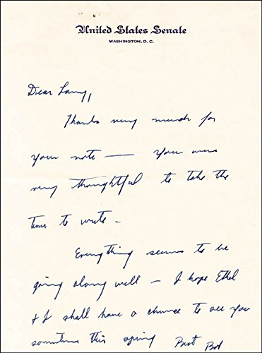 Robert F. Kennedy - Autograph Letter - Kennedy Autograph Robert