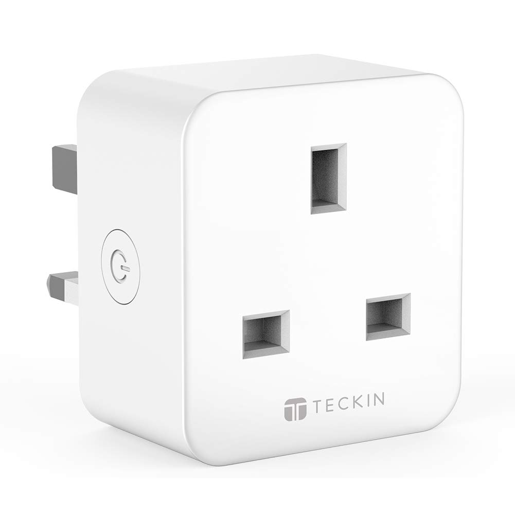 TECKIN Smart Plug, WiFi Outlet Works with  Alexa, Echo, Google Home and IFTTT, Wireless Socket Remote Control Timer Plug Switch, No Hub Required,16A Plug Switch, No Hub Required