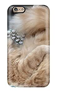 Hot NKxZAjm6846reUKB Orange Cat With Furry Tail Tpu Case Cover Compatible With Iphone 6