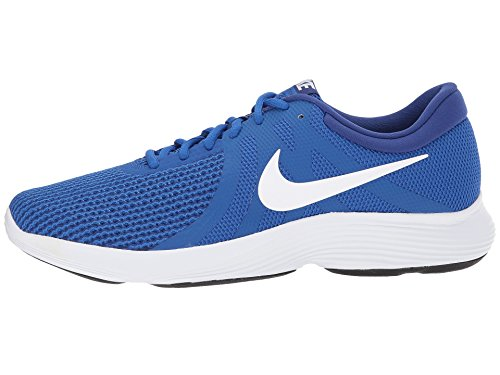 Nike Herren Revolution 4 Laufschuhe Spiel Royal / Weiß / Tief Royal Blue / Weiß