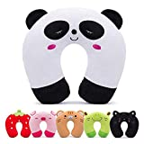 H HOMEWINS Travell Pillow for Kids Toddlers - Soft Neck Head Chin Support Pillow, Cute Animal Comfortable in Any Sitting Position for Airplane, Car, Train, Machine Washable, Children Gifts (Panda)