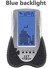 CZT Nueva Pantalla Grande Tetris Consola de Juegos retroiluminación Azul Soporte para Auriculares Incorporado 23 Juegos nostálgicos Juguetes de Regalo para niños de Ocio