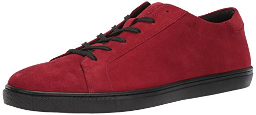 Kenneth Cole Men Kam Low-Top Sneakers, Black, Medium Red Suede