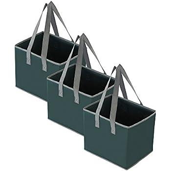 Amazon Com Reusable Collapsible Grocery Shopping Box Bag