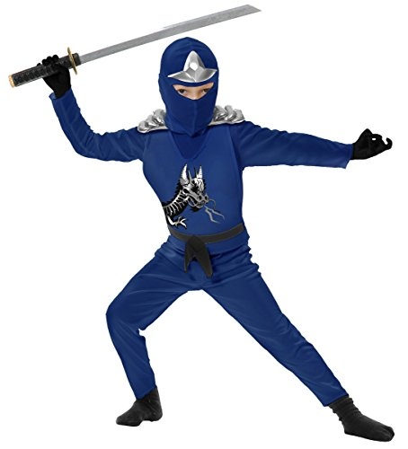 Ninja Avenger II with Armor, Blue, Child Small