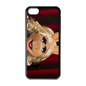 iPhone 5c Cell Phone Case Black The Muppets Miss Piggy SUX_168706
