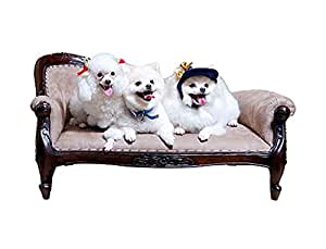 D-ART COLLECTION Mahogany Victorian Pet Sofa