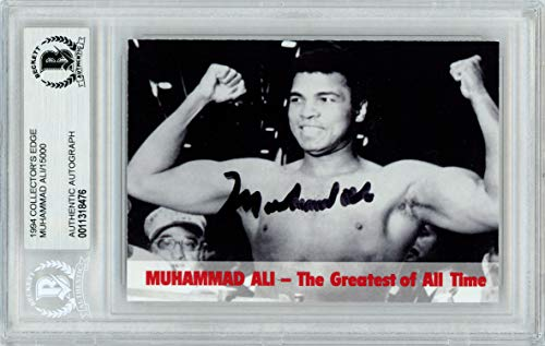 Edge Card Collectors Autographed (Muhammad Ali Autographed 1994 Collector's Edge Card Beckett BAS #11318476)
