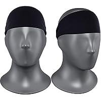Self Pro Mens Headbands 2 Pack Guys Sweatband & Sports Diadema para correr, entrenamiento cruzado, raquetbol, ejercicio - Estiramiento del rendimiento y absorción de humedad