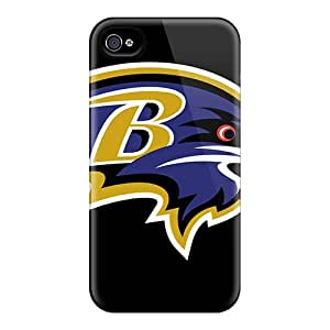 4/4s Scratch-proof Protection Case Cover For Iphone/ Hot Baltimore Ravens Phone Case