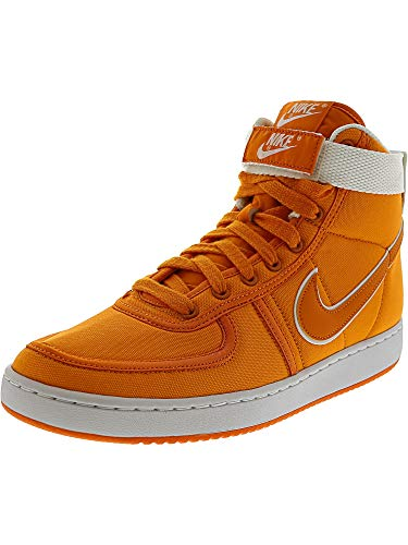 NIKE Men's Vandal High Supreme Canvas Qs Bright Ceramic/White - High-Top Basketball Shoe 11M