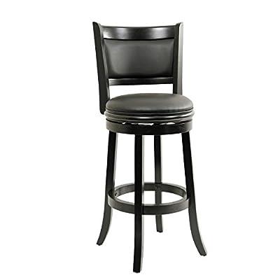 Boraam 46829 Augusta Bar Height Swivel Stool, 29-Inch, Cappuccino with Dark Brown PU