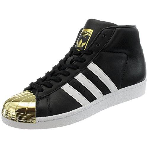 Adidas Donna Promodel In Metallo Punta Bianca, Cblack / Ftwwht / Goldmt Bianco-nero-oro