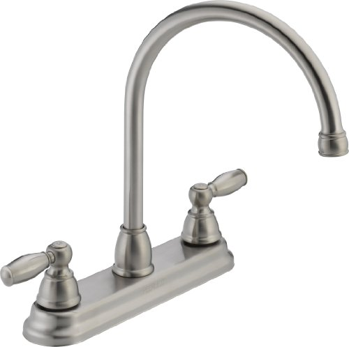 Peerless P299565LF-SS Apex Two Handle Kitchen Faucet, (Ss Two Handle Kitchen)