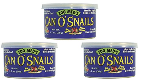 Zoo Med Can O' Snails Turtle Food, 1.7-Ounce (Pack of 3) by Zoo Med