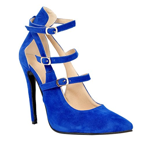 Bleu Slippers Hi Kolnoo top Femme 1IapXUw