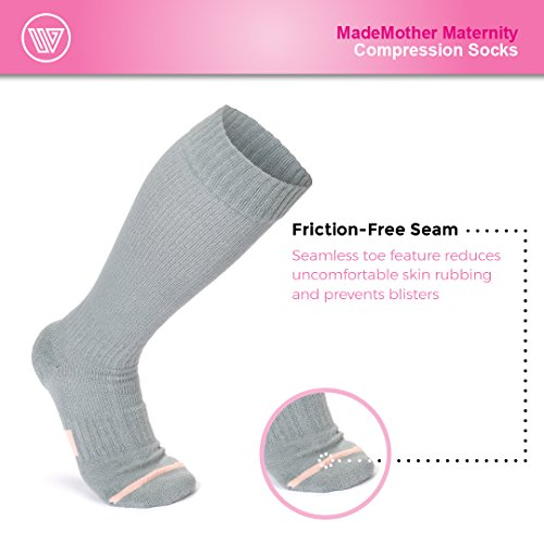 912446bcc4 MadeMother Pregnancy Compression Socks: Premium Maternity Stockings for  Women - Guaranteed Support for Leg &