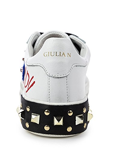 Mujer Giulia Bianco Sintético para de Zapatillas NATI qanXrw1a8