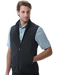 Mens Classic Lightweight Poplin Zip Front Solid Vest #1962