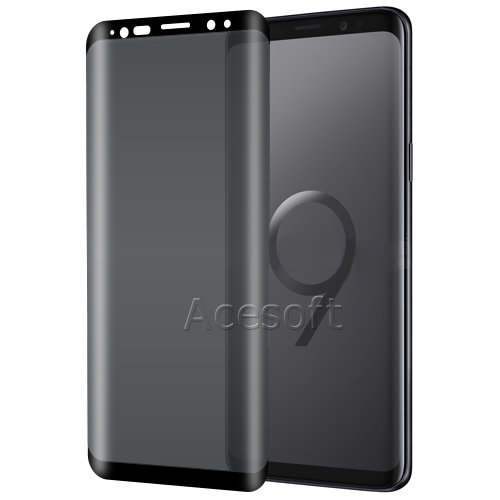 Full Coverage Privacy Anti-Spy Anti-Shatter Anti-Bubble Tempered Glass Screen Protector [Easy to Install] for Samsung Galaxy S9 Plus SM-G965U Android phone by SodaPop