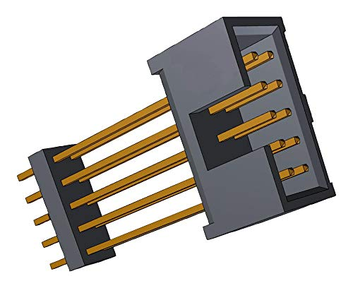 ZSS-117-09-L-D-1253 - Board-To-Board Connector, 2.54 mm, 34 Contacts, Header, ZSS Series, Through Hole, 2 Rows, (Pack of 10) (ZSS-117-09-L-D-1253)