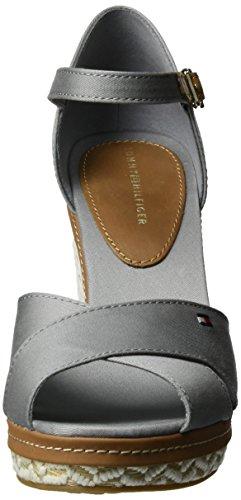 43d Heels Wedge Grey light Sandals Hilfiger Tommy Women''s 007 E1285lena Xwq0xtXPI