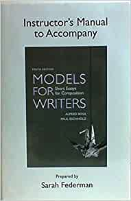 Models for writers short essays for composition