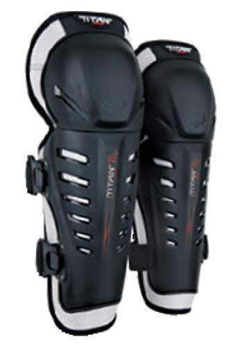 Fox Knee Shin Guards - Fox Racing 2019 Titan Race Knee/Shin Guards (BLACK)