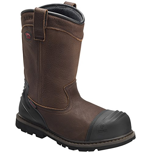 Avenger Men's Waterproof Wellington Work Boot Composite Toe Brown 10.5 D