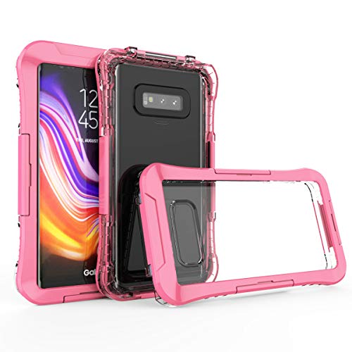 Touchable Crystal Case - Galaxy Note 9 Waterproof Case, AICase Crystal Clear 6M Underwater Especially for Diving Dust-Proof Snow-Proof Shock-Proof Full Sealed Underwater Cover for Samsung Galaxy Note 9 (Pink)