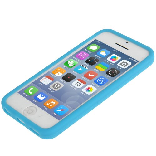 "iPhone 5C Premium Hülle / Case / Cover in blau aus Silikon / TPU im ""1-Color-Style"" -Original nur von THESMARTGUARD-"
