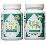 Manitoba Harvest Hemp Foods Hemp Oil Soft Gels, 1000 mg, 60 Count (2 Bottle)