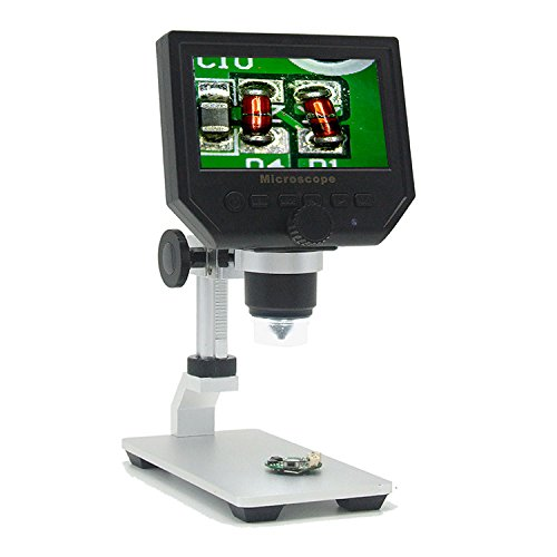 (HITSAN INCORPORATION G600 Digital 1-600X 3.6MP 4.3inch HD LCD Display Microscope Continuous Magnifier Upgrade Version)
