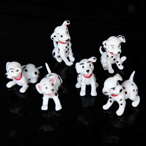 - NATFUR 6pcs Miniature Spotty Dogs Set for Dollhouse and Garden Decoration