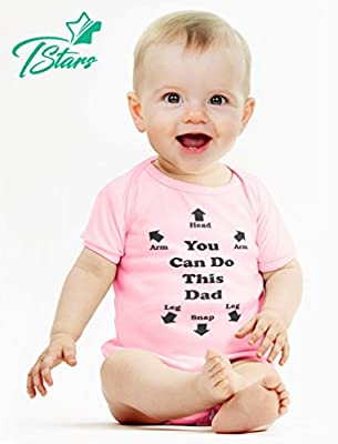 Tstars You Can Do This Dad - Funny for New Dads Cute Baby Bodysuit