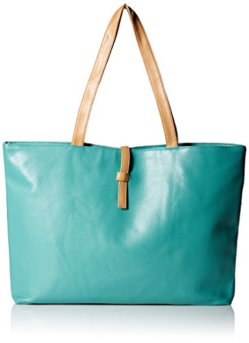 Classic Fashion Faux Leather Large Tote Bags with Coin Wallet (Light Green)
