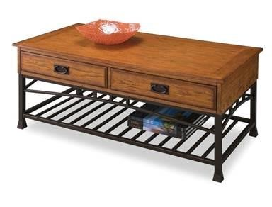 Distressed Oak Coffee Table (Home Style 5050-21 Modern Craftsman Coffee Table, Distressed Oak Finish)