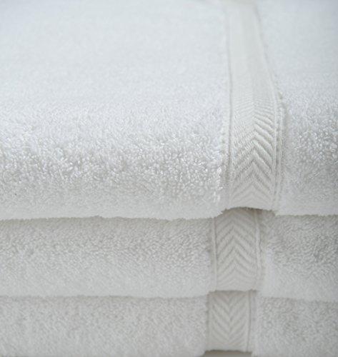 27x54'' Oxford Gold Dobby White Xl Hotel Bath Towel-3dz by Oxford