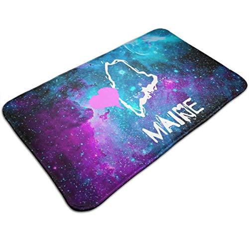 HeiZQheJ Love Maine State Doormat Floor Mat Rug Indoor/Outdoor/Front Door/Bathroom Mats Non Slip 30