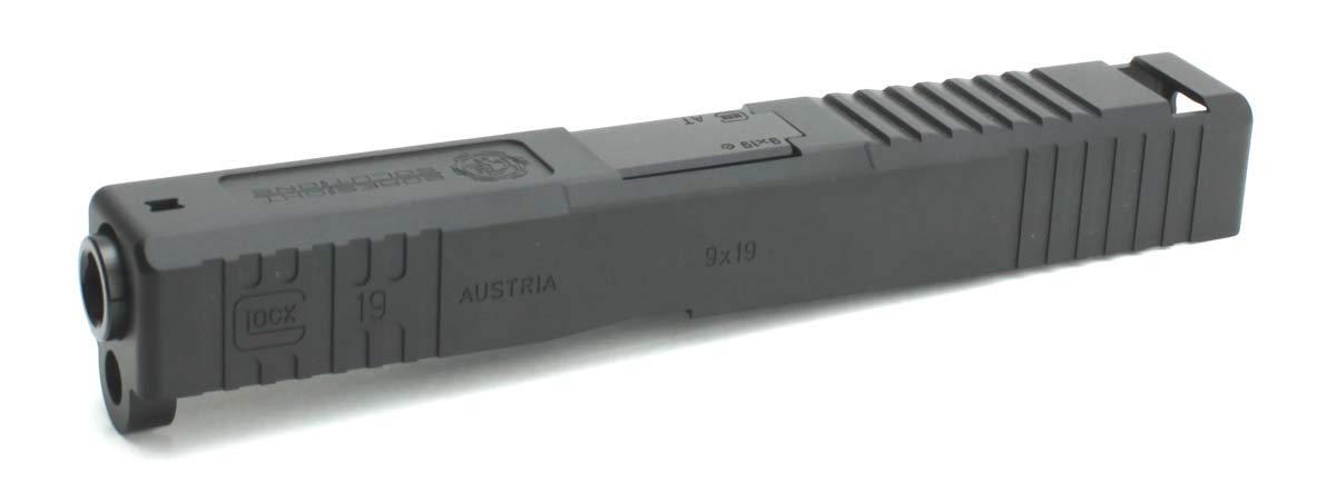 DETONATOR 東京マルイ Glock19専用 Boresight Solutionsカスタムスライド ブラック B07S1VFXNJ