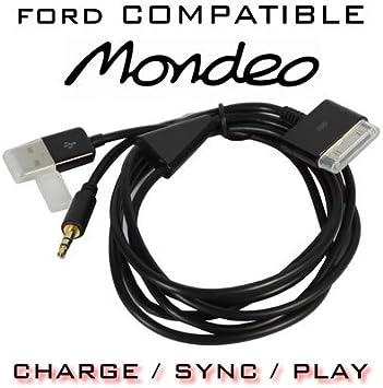 Ford Mondeo Audio Und Usb Dockingkabel Für Iphone Ipad Itouch Apple Dockstecker Auf 3 5 Mm